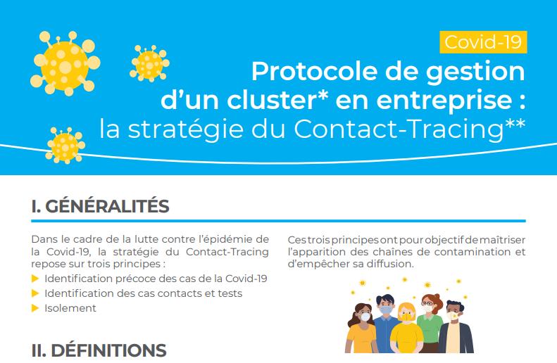Covid-19 : Protocole de gestion d'un cluster en entreprise