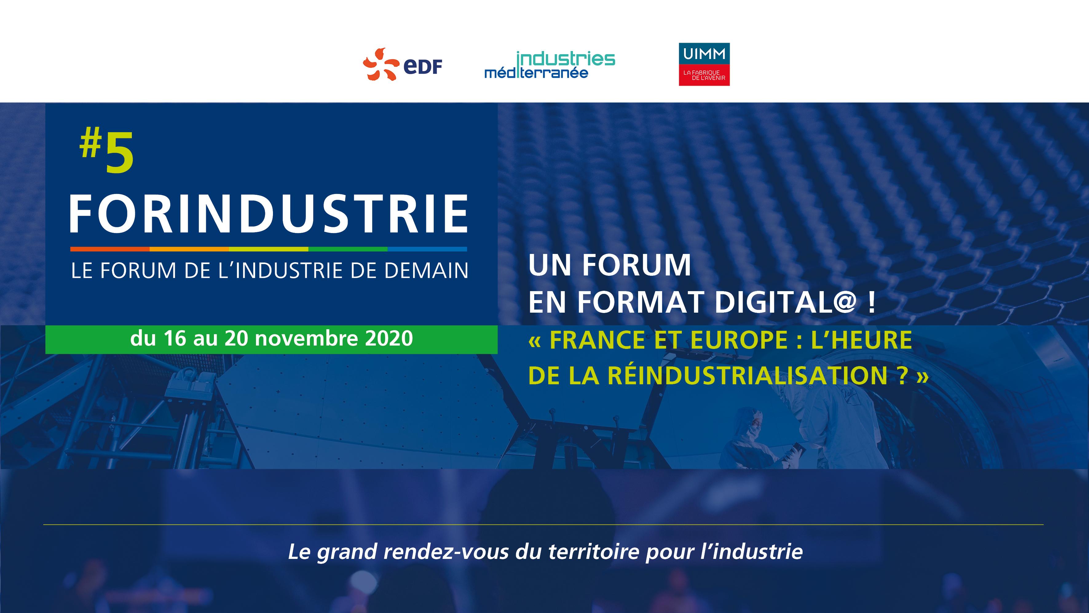 E-Forum FORINDUSTRIE, le forum de l'industrie de demain