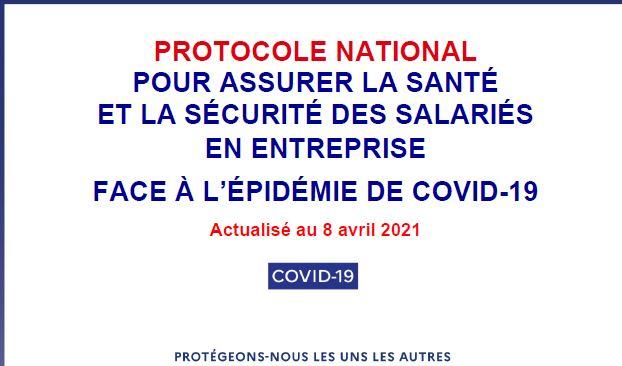 Covid-19 : mise à jour du protocole national en entreprise au 8 avril 2021